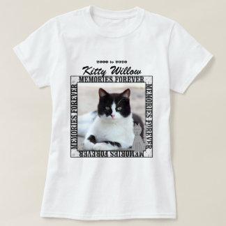 Cat Photo Pet Memorial with Name T-Shirt