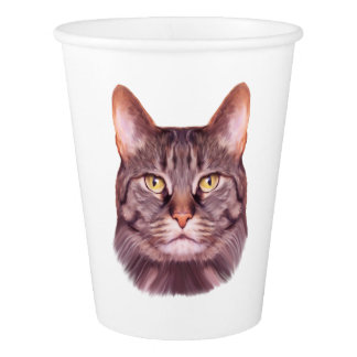 Cat Photo Portrait Paper Cup