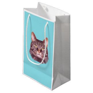 Cat Photo Portrait Small Gift Bag