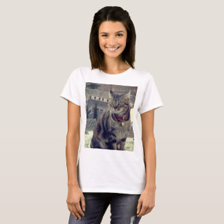 Cat Photo Women's Basic T-Shirt, White T-Shirt
