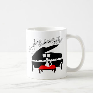 Cat & Piano Coffee Mug