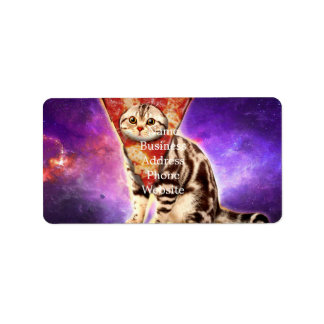 Cat pizza - cat space - cat memes address label