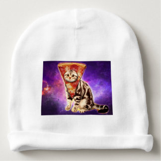 Cat pizza - cat space - cat memes baby beanie