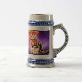 Cat pizza - cat space - cat memes beer stein