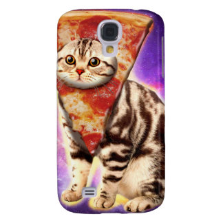 Cat pizza - cat space - cat memes galaxy s4 cover