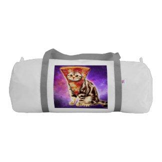 Cat pizza - cat space - cat memes gym bag