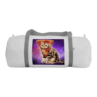 Cat pizza - cat space - cat memes gym duffel bag