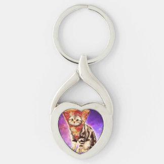 Cat pizza - cat space - cat memes key ring