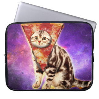 Cat pizza - cat space - cat memes laptop sleeve