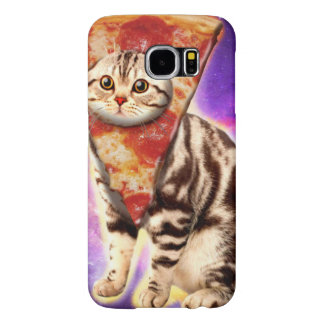 Cat pizza - cat space - cat memes samsung galaxy s6 cases