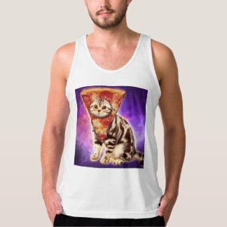 Cat pizza - cat space - cat memes singlet