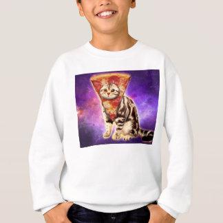Cat pizza - cat space - cat memes sweatshirt