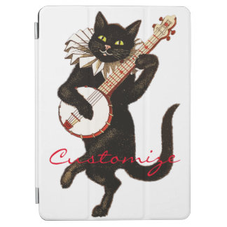 Cat playing Banjo Thunder_Cove iPad Air Cover