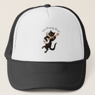 Cat playing Banjo Thunder_Cove Trucker Hat