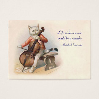 Cat Playing Cello - Two Sided Business Card