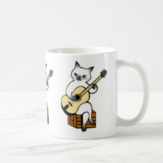 Cat Playing Guitar Mug