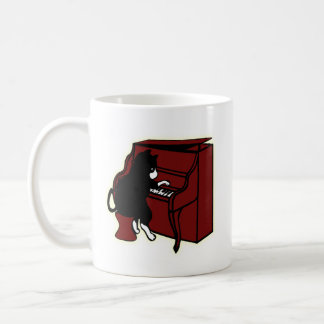 Cat Playing Piano Mug