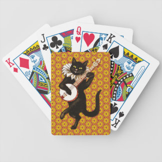 Cat Playing the Banjo Bicycle Playing Cards