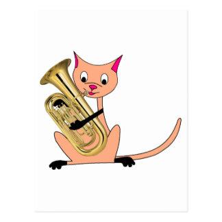 Cat Playing the Euphonium Postcards