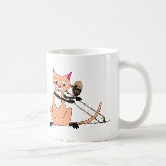 Cat Playing the Trombone Coffee Mug