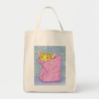 CAT plays in bag