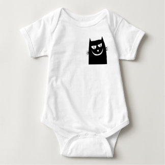 cat pocket baby bodysuit