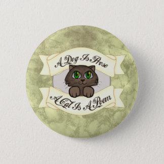 Cat Poem 6 Cm Round Badge