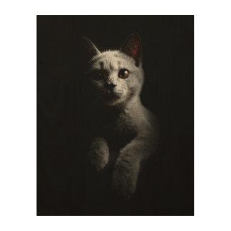 Cat Portrait Wood Print
