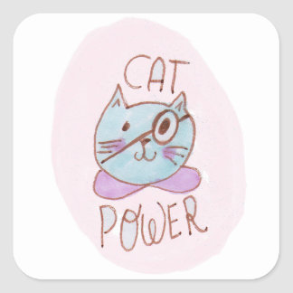 Cat Power Square Sticker