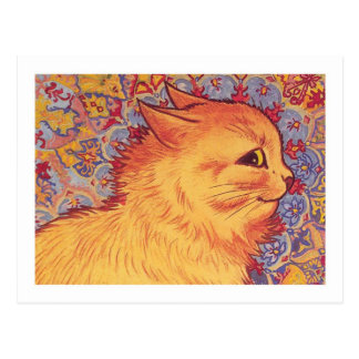 Cat Profile By Louis Wain Postcard