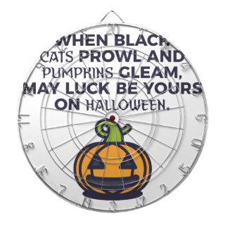 Cat Pumpkins Halloween Design Dartboard
