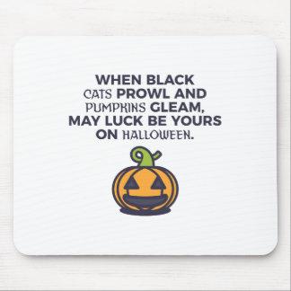 Cat Pumpkins Halloween Design Mouse Pad