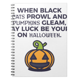 Cat Pumpkins Halloween Design Notebook