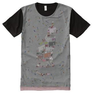 Cat Purr Pattern Tee All-Over Print T-Shirt