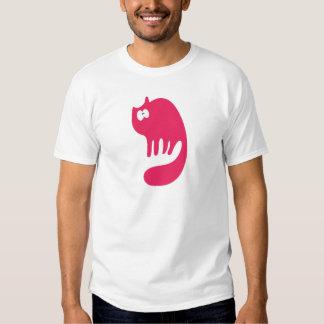 Cat Purring Pink Wtf Eyes Shirt