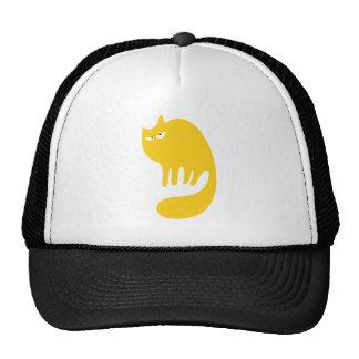 Cat Purring Yellow Dissaproval Eyes Trucker Hat