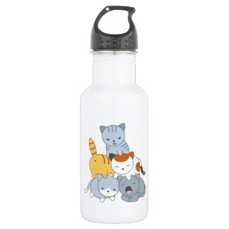 Cat Pyramid - Group of Cats 532 Ml Water Bottle