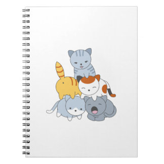 Cat Pyramid - Group of Cats Notebook