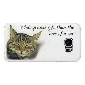 Cat quote Samsung galaxy S6 case