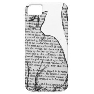 cat reading book sticker case for the iPhone 5