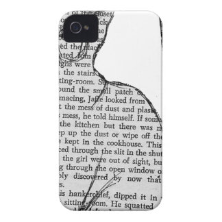 cat reading book sticker iPhone 4 cover