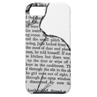 cat reading book sticker iPhone 5 cover