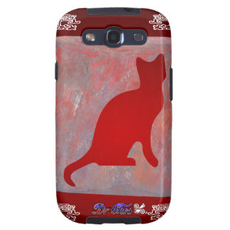 CAT RED CUSTOMIZABLE PRODUCTS SAMSUNG GALAXY S3 CASES