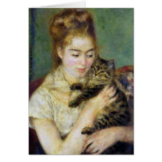 Cat Renoir Vintage Card