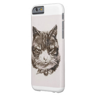 Cat reproduction vintage illustration barely there iPhone 6 case