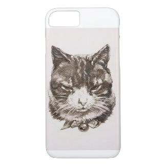 Cat reproduction vintage illustration iPhone 7 case