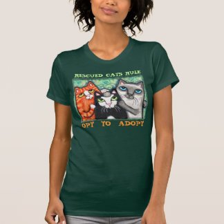 Cat Rescued Shelter Cat s T-Shirt