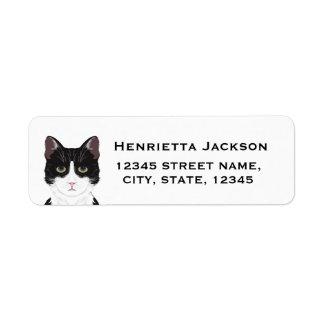 Cat return address labels - customizable