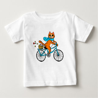 Cat riding a bicycle baby T-Shirt