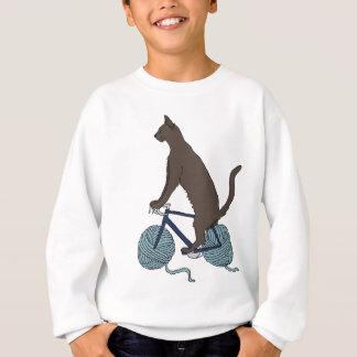 Cat Riding Bike With Yarn Ball Wheels Sweatshirt